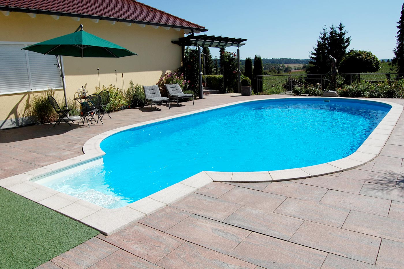 Emejing pool fur garten oval pictures house design ideas for Aufbauanleitung pool stahlwand