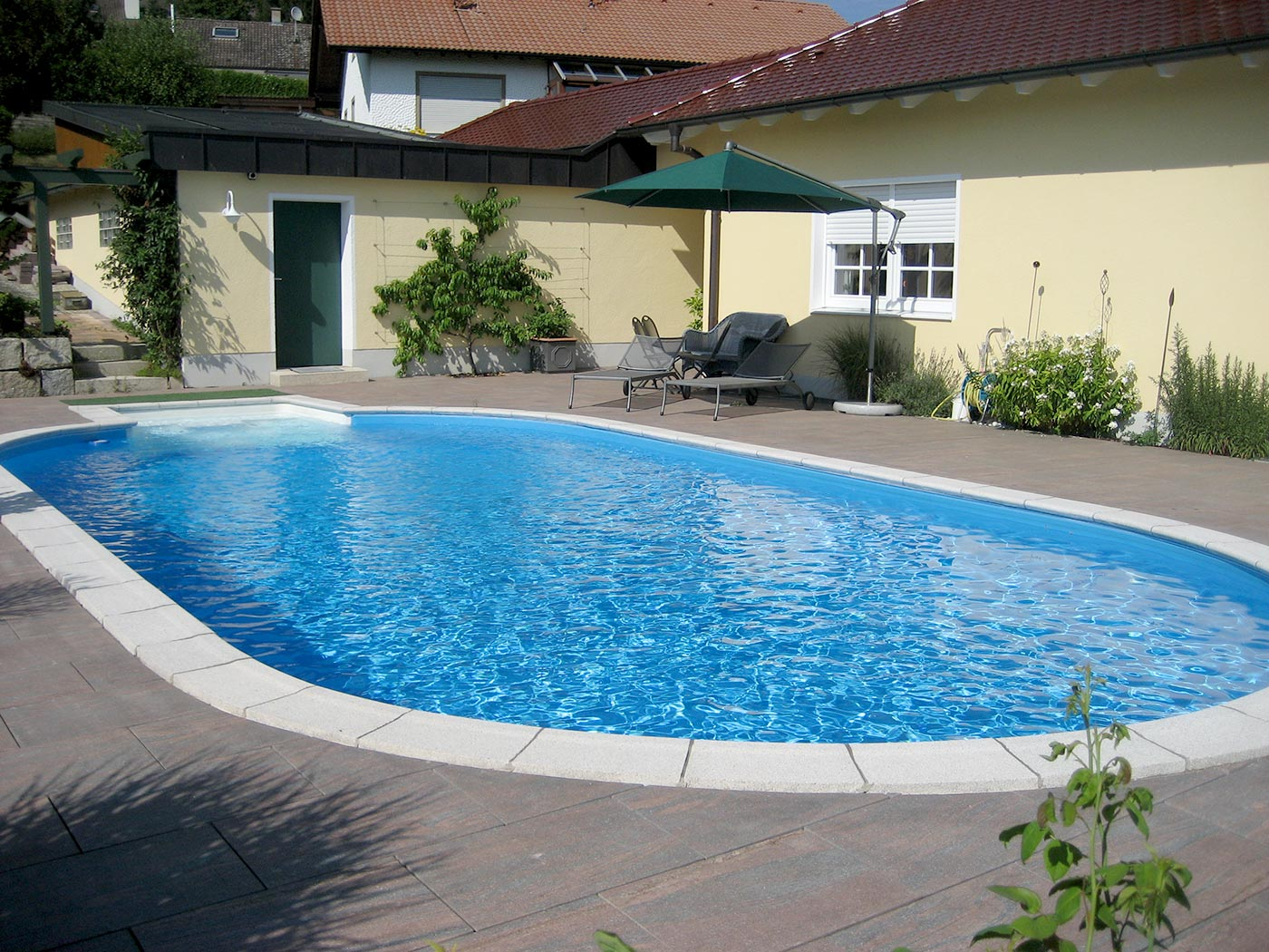 Einbaupool oval fabulous intex x x cm with einbaupool for Pool familia nuovo de luxe