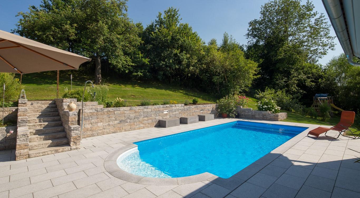 Gartenpool eckig swalif for Obi abdeckplane pool