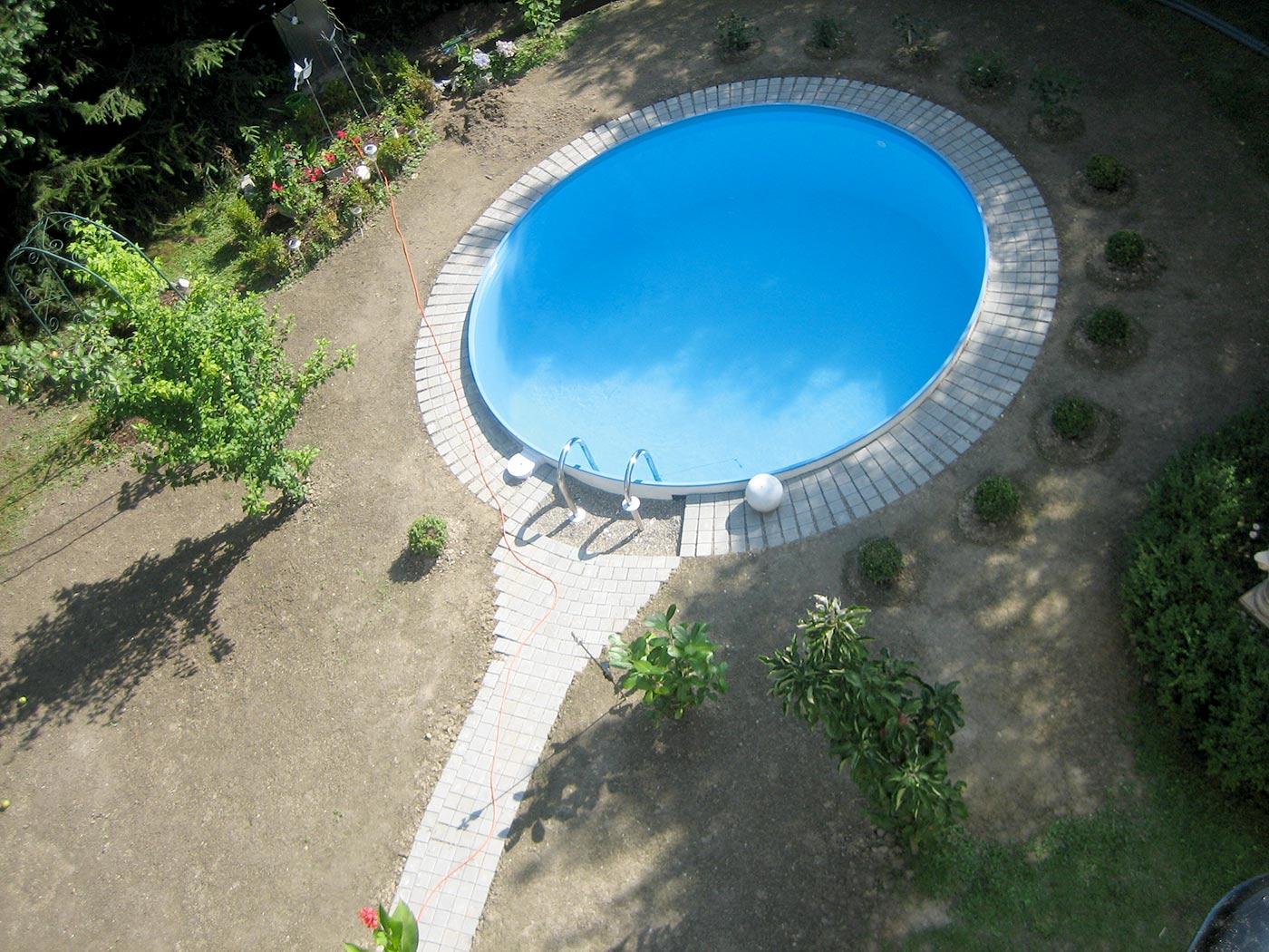 Pools stahlwandpools pool mit stahlwand for Pool rundbecken