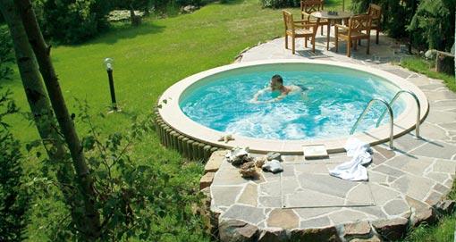 pools ein styropool pool pool mit styropoolbecken. Black Bedroom Furniture Sets. Home Design Ideas