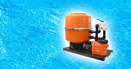 Bild: Poolfilter Poolreinigung