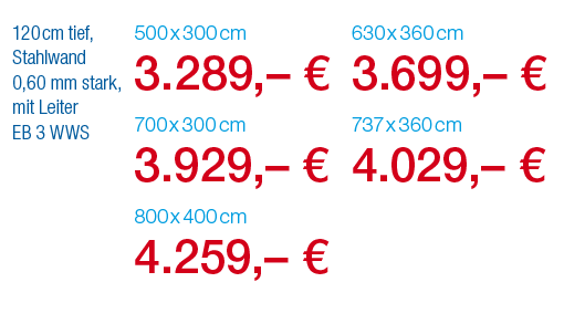 Pool-Angebot: Stahlwandpool LAGO SB SPEZIAL