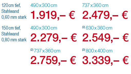 Pool-Angebot: Stahlwandpool LAGUNA E+