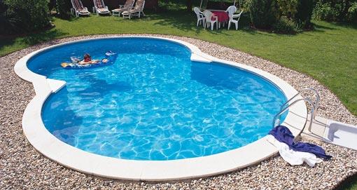 Bild von Achtform Pool Stahlwandpool
