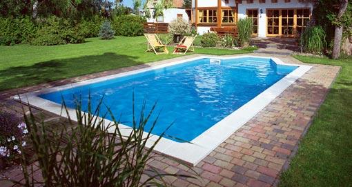 Betonpool - betonierter Pool