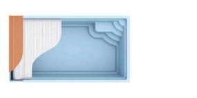 Bild von Polyesterpool Atlantis mit Unterflurrollo