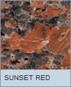 Poolzubehör Beckenrandstein Granit Sunset Red