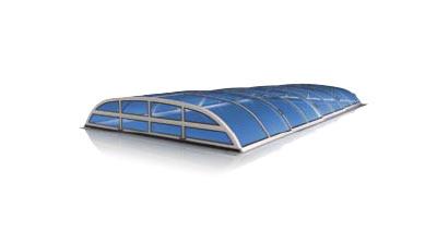 "Zenith Schwimmbadüberdachung Modell ""Flat Clear"" | 3 Teilig"